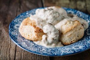 Sausage gravy is an American culinary staple.