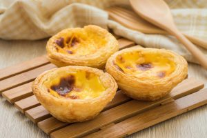 Portuguese egg tarts are as commonplace in Macau as in Lisbon