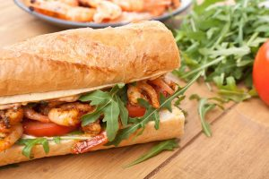 Using seafood is one of many ways to spruce up a standard sub sandwich.