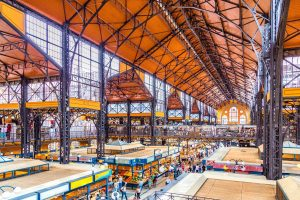 The Central Market Hall in Budapest is one of the world's largest food halls.