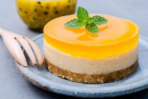 Passion fruit and many other exotic fruits are a welcome addition to many desserts.
