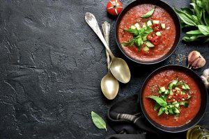 Gazpacho is the only soup we can stomach in the dog days of summer.