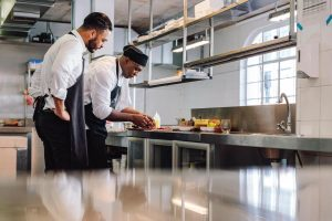Helping current staff grow as chefs can help to retain them.